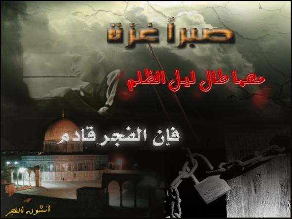 على سور غزة